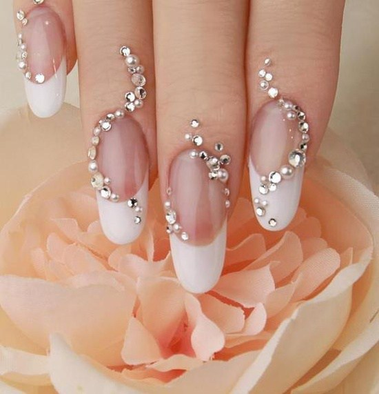 acrylic nails wedding