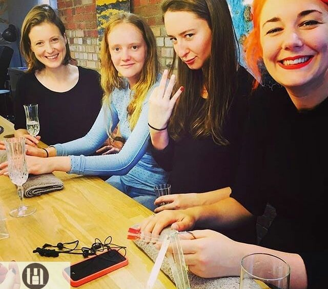 Hen party in nail bar Trieu Nails London