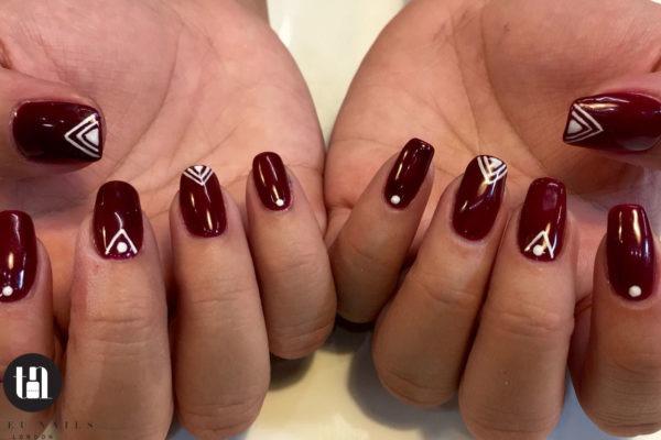 stylish shellac nails manicure