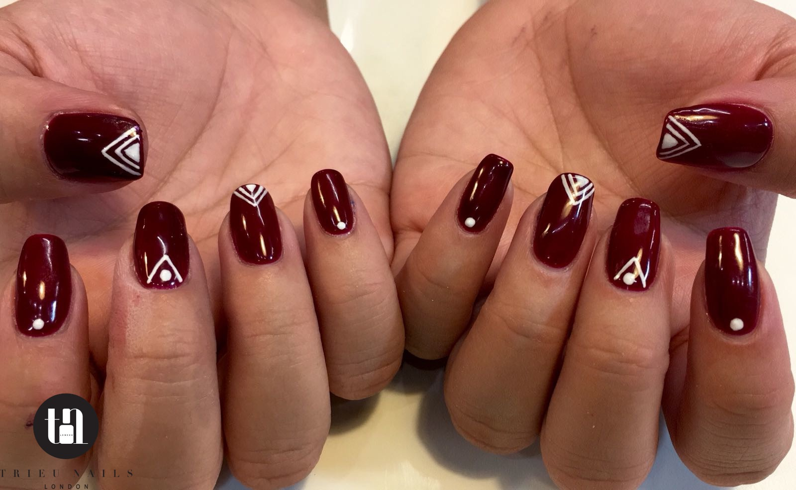 stylish shellac nails manicure