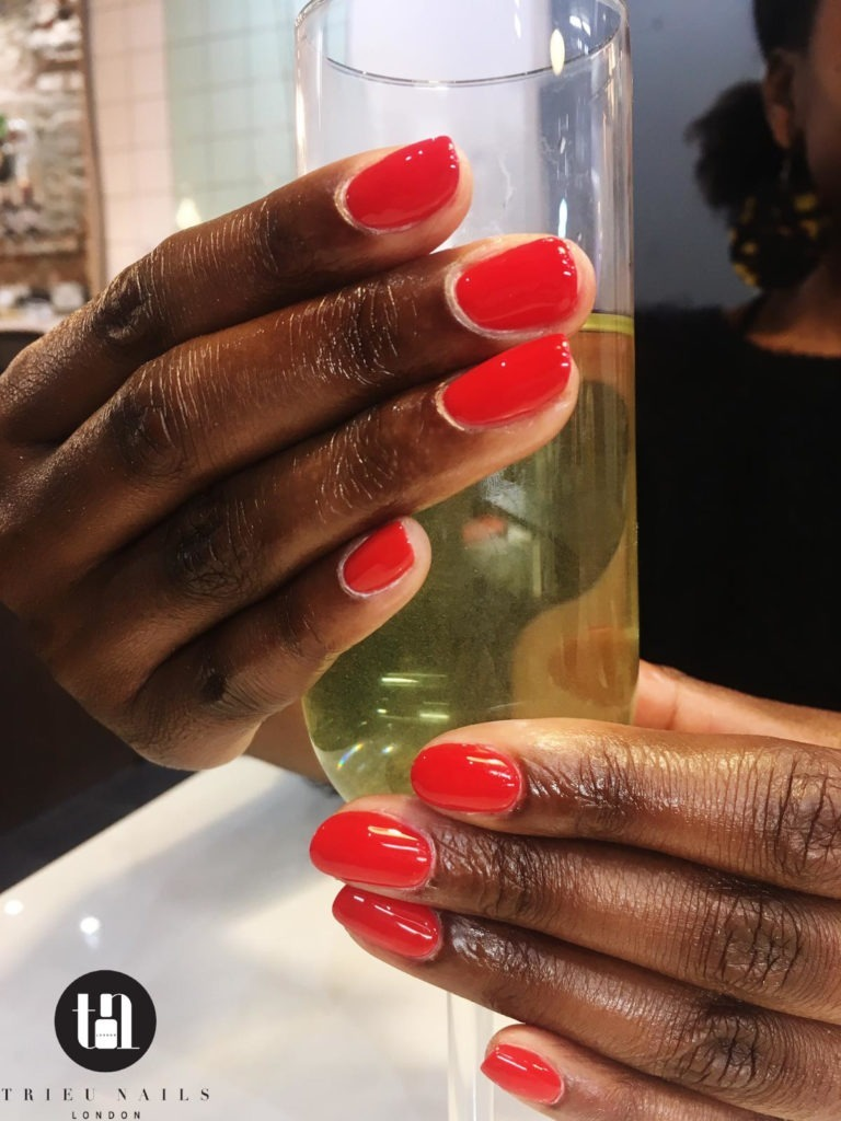 Shellac manicure done by Nail salon open late