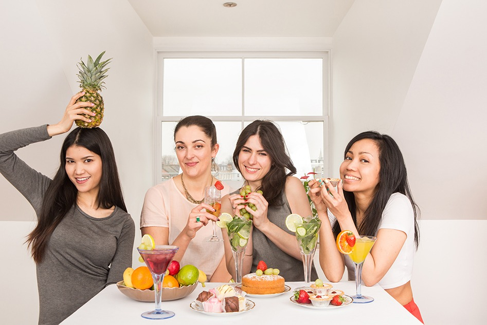 Women fruit hen party