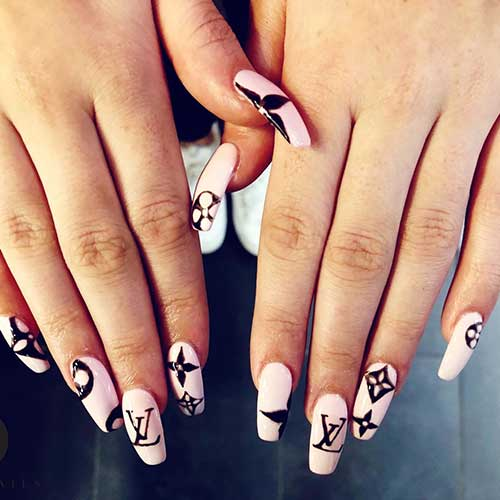 Acrylic nail art trieu nails